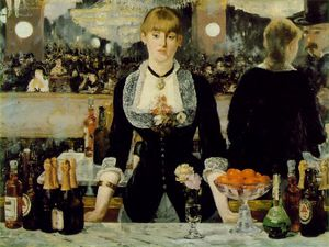 Edouard Manet - A bar at Folies-Bergeres, Courtaul