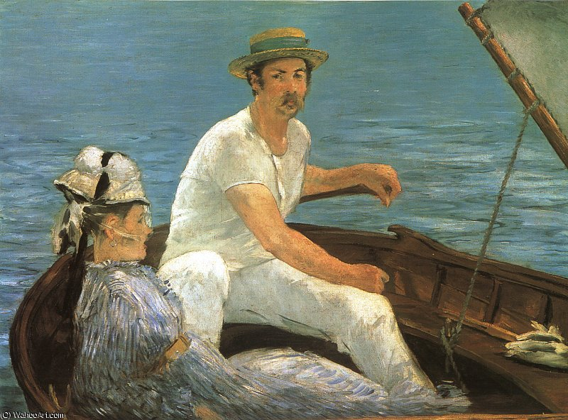 Boating, Metropolitan Museum of Art, New York, 1874 by Edouard Manet (1832-1883, France) | Art Reproduction | WahooArt.com
