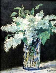 Edouard Manet - Lilacs in a vase, ca Nationalgalerie,