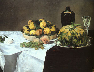 Edouard Manet - Still Life with Melon and Peaches, National Gall