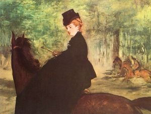 Edouard Manet - The Horsewoman, oil on canvas, Museum of Art, Sã