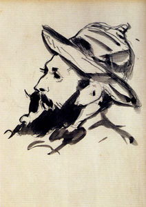 Edouard Manet - Head of a man claude monet