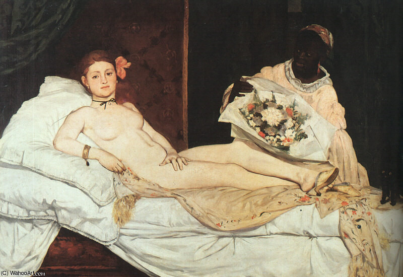 Olympia by Edouard Manet (1832-1883, France) | Oil Painting | WahooArt.com