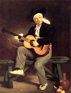 Edouard Manet - The spanish singer the guitar player