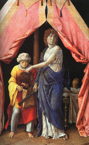 Andrea Mantegna - Judith and Holofernes, wood, National Gallery