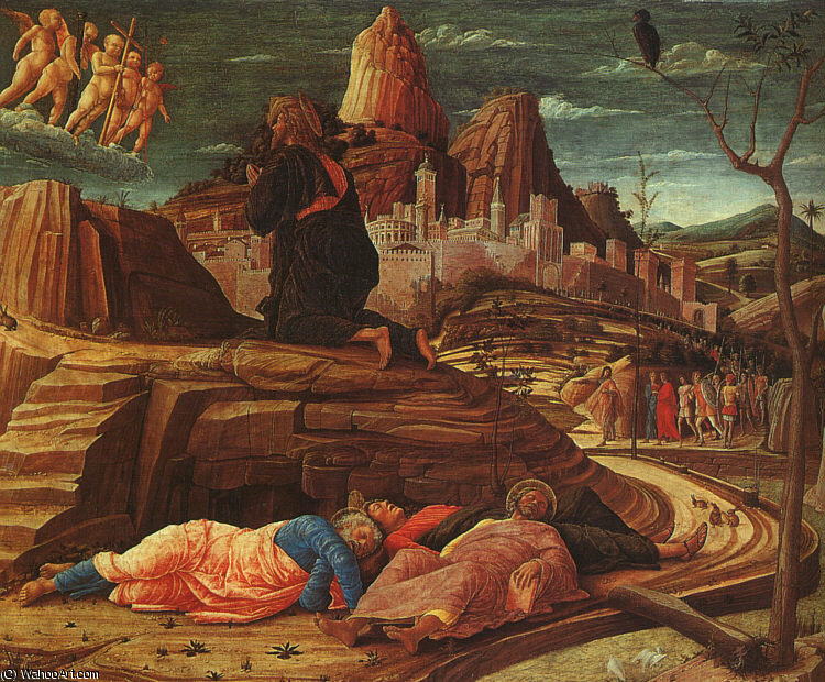 The Agony in the Garden, National, 1460 by Andrea Mantegna (1431-1506, Italy)