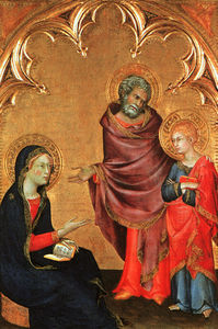 Order Museum Quality Copies | Christ Discovered in the Temple (The Holy Family), - by Simone Martini (1284-1344, Italy) | WahooArt.com