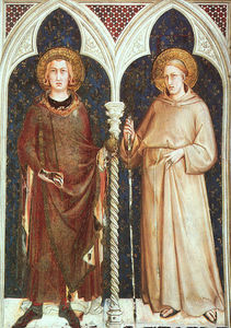 Simone Martini - St. Louis of France and St. Louis of Toulouse, appro