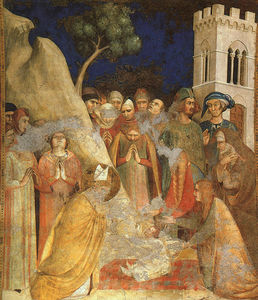 Simone Martini - The Miracle of the Resurrected Child, approx. -