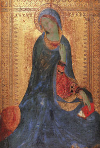 Simone Martini - The Virgin of the Annunciation, 1333, tempera on woo