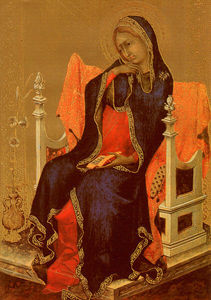 Simone Martini - The Virgin of the Annunciation, after 1339, panel pa