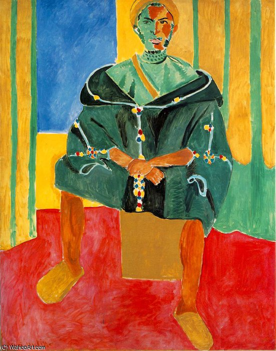 Seated Riffian (Le Rifain assis), eller -, 1913 by Henri Matisse (1869-1954, France)