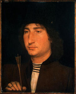 Hans Memling - Portrait of a man with an arrow, c. ngw