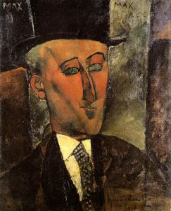 Amedeo Modigliani - Portrait of Max Jacob, Oil on canva