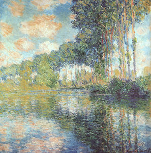 Claude Monet - Poplars on the Epte, oil on canvas, National Gal