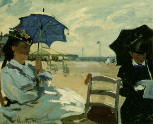 Claude Monet - The Beach at Trouville, NG London