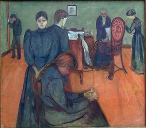 Edvard Munch - Death in the sick-room, )