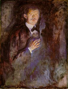 Edvard Munch - Self-Portrait with Burning Cigarette NG Oslo