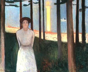 Edvard Munch - Summer night's dream (the voice), boston museum of fin