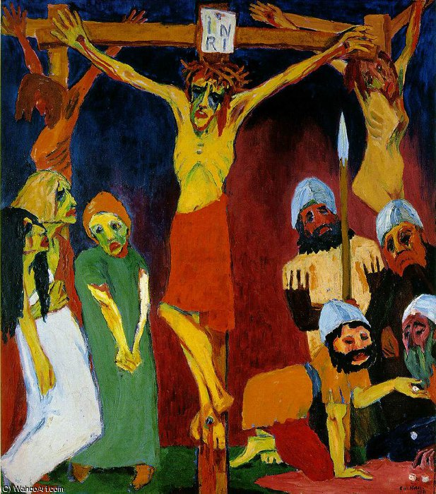 Crucifixion,, 1912 by Emile Nolde (1867-1956, Germany) | Painting Copy | WahooArt.com