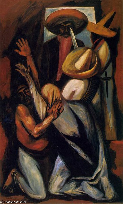Zapata, The Art Institute of Ch, 1930 by Jose Clemente Orozco (1883-1949, Mexico) |  | WahooArt.com