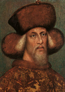 Pisanello - Portrait of the Emperor Sigismund, parchm
