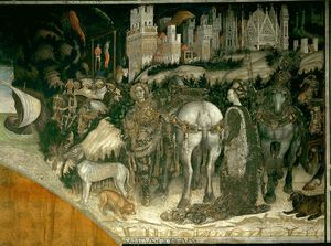 Pisanello - St George and the Princess of Trebizond,