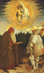 Pisanello - The Virgin and Child with Saints George and Anthon