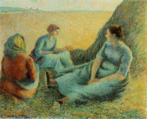 Camille Pissarro - Haymakers resting, McNay Art In