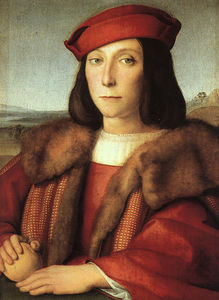 Raphael (Raffaello Sanzio Da Urbino) - Portrait of a Man with an Apple (possibly Francesc