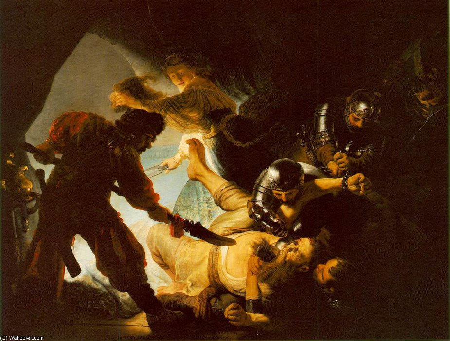 The blinding of samson stadelsches kunstinsti, 1636 by Rembrandt Van Rijn (1606-1669, Netherlands)