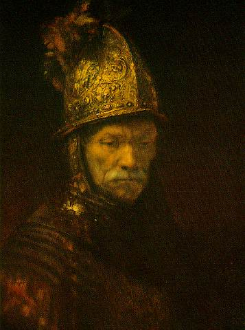 The man with the golden helmet ca Gemäldegal, 1650 by Rembrandt Van Rijn (1606-1669, Netherlands)
