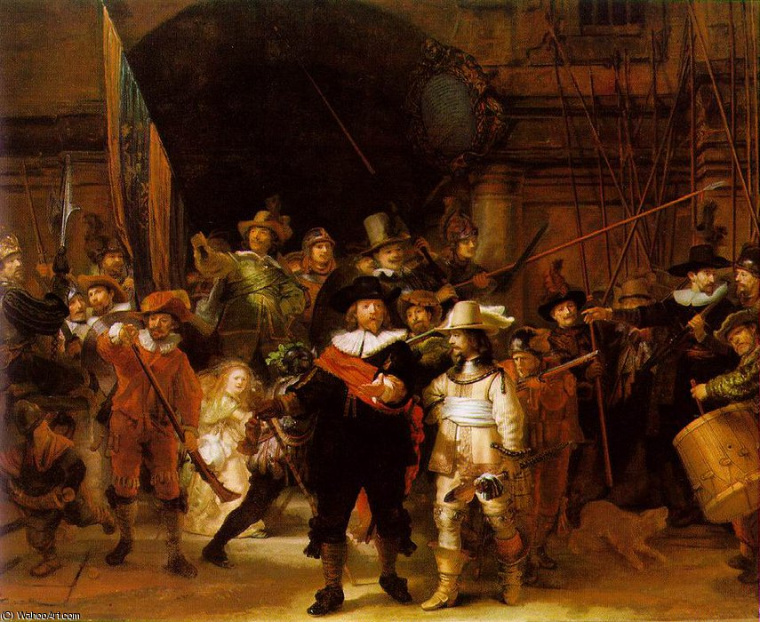 The nightwatch, 1642 by Rembrandt Van Rijn (1606-1669, Netherlands) | Oil Painting | WahooArt.com
