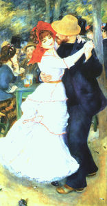Pierre-Auguste Renoir - Dance at Bougival, oil on canvas, Museum of Fin