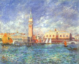 Pierre-Auguste Renoir - Doges- Palace, Venice, oil on canvas, Sterling