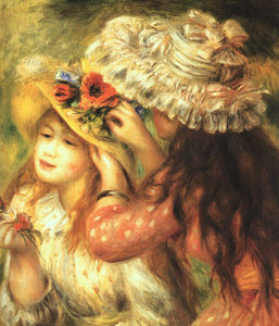 Pierre-Auguste Renoir - Girls Putting Flowers in their Hats, Metropolit