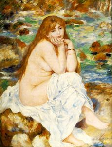 Pierre-Auguste Renoir - Seated bather, ca Fogg Art Mu