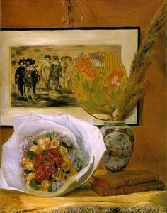 Pierre-Auguste Renoir - Still life with bouquet, Museum o