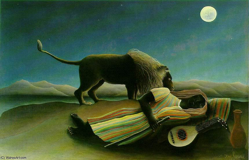 The Sleeping Gypsy, Moma NY by Henri Julien Félix Rousseau (Le Douanier)
