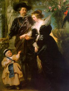 Peter Paul Rubens - with his Wife Hélène Fourment and their Son Peter Paul
