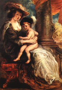 Peter Paul Rubens - Helena Fourment with her Son Francis Alte Pinako