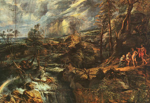 Peter Paul Rubens - Stormy Landscape, approx. oil on panel, Art His
