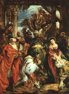 Peter Paul Rubens - The adoration of the magi Musée Royal des Beaux -