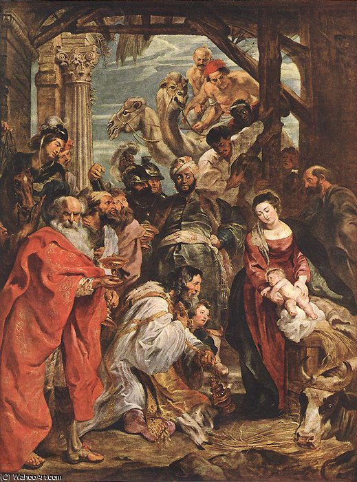 Order Art Reproductions | The Adoration of the Magi by Peter Paul Rubens (1577-1640, Germany) | WahooArt.com