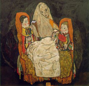 Egon Schiele - Mother and two children, Oesterreichische Gale
