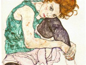 Egon Schiele - Sitting woman with legs drawn up,1917, narodni galer