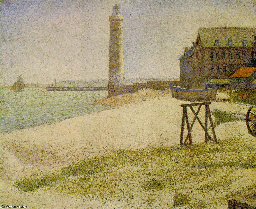 The Lighthouse at Honfleur, NG Wa, 1886 by Georges Pierre Seurat (1859-1891, France)