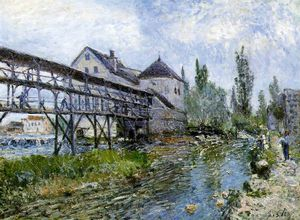 Alfred Sisley - Provencher's mill at Moret, Museum Bo