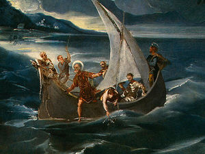 Tintoretto (Jacopo Comin) - Christ at the sea of galilee, c. det(1 (1580)