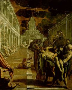 Tintoretto (Jacopo Comin) - Storm rising while the body of St Mark is being t